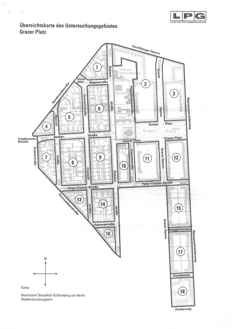 Karte Erhaltungsgebiet